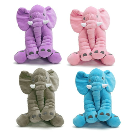 "12x 10"" Soft Stuffed Plush Elephant Sleep Pillow Lumbar Cushion Lovely Cute Baby Kids Children Doll Toys Birthday Gift"