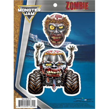 Monster Jam Zombie Truck Decals Car Auto Stickers - Monster Truck Stickers