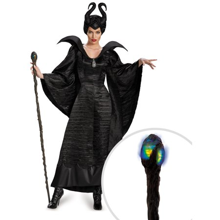 Maleficent Christening Black Gown Deluxe Costume for Adults and Queen Maleficent Deluxe Glowing 56
