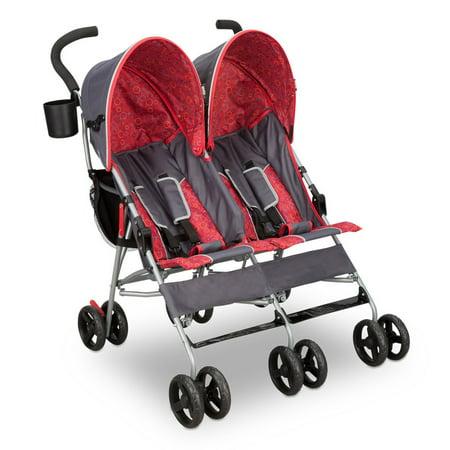 Delta Children LX Side by Side Double Stroller, Gray