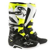 Alpinestars Tech 7 Enduro Boots Black/White/Yellow (Black, 10 42)