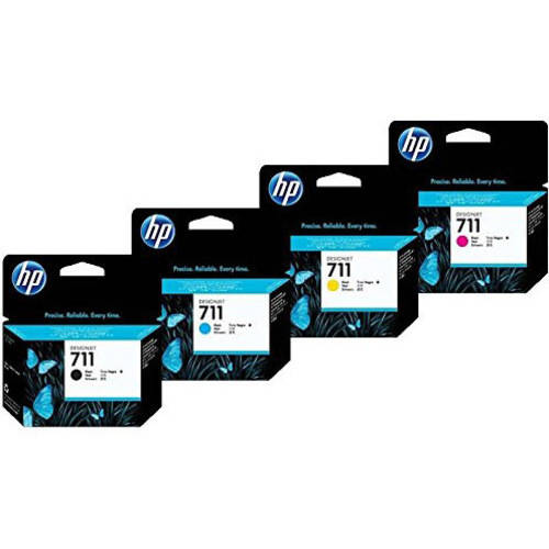 Genuine HP 711 Ink Set, 4-Pack