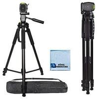 72 Inch Elite Series Professional, Full Size Camera Tripod for Canon, Nikon, Sony, Samsung, Olympus, Panasonic & Pentax + eCostConnection Microfiber Cloth