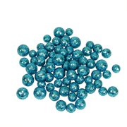 "60ct Turquoise Blue Sequin and Glitter Christmas Ball Decorations 0.8"" - 1.25"""