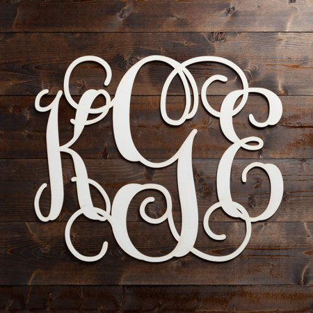 Personalized Oversized Wood Monogram Plaque, Available in 5 colors