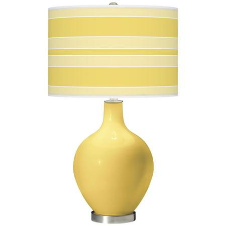 Color + Plus Daffodil Bold Stripe Ovo Table