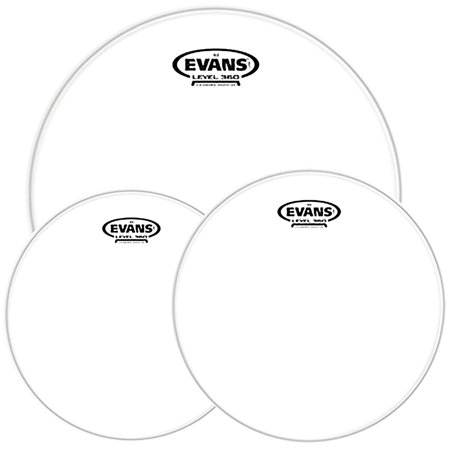 Evans G2 Clear Tom Heads with Free 14 in. HD Dry Snare Head 12, 13, 16 in.
