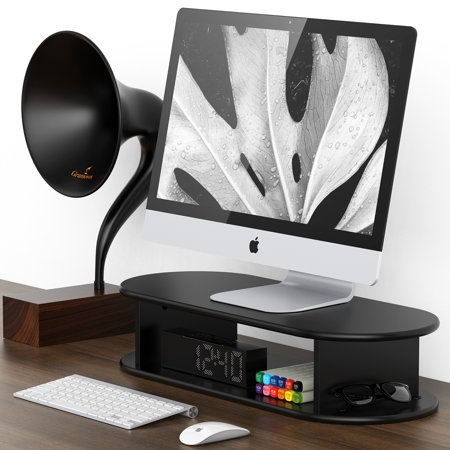 Fitueyes computer monitor riser stand desktop stand for flat screen dt206001wb - Computer stands at walmart ...