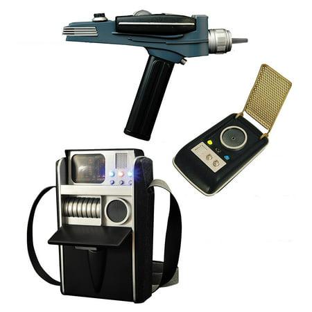 DIAMOND SELECT TOYS Star Trek: Landing Party Pack Phaser, Tricorder, and  Communicator