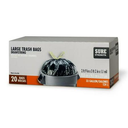 Sure Strength 6394290 33 gal Trash Bags Drawstring   - image 1 de 1