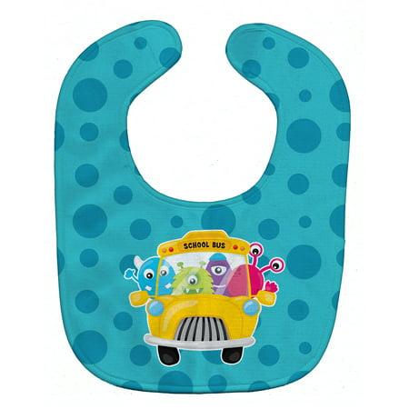 Monster School Bus Baby Bib