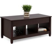 Best Choice Products Wooden Modern Multifunctional Coffee Dining Table for Living Room, Decor, Display with Hidden Storage and Lift Tabletop, Espresso