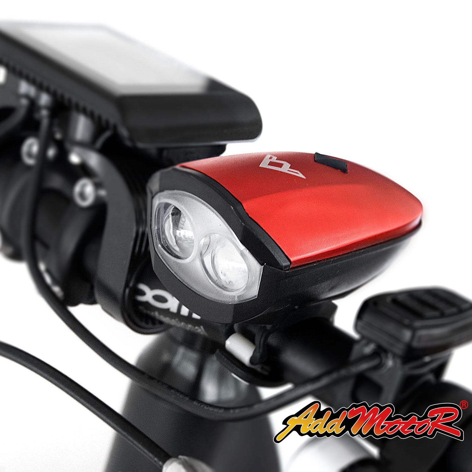 Addmotor Bike Headlight Light Bicycle Horn USB Rechargeable Super Bright Bicycle Headlight Double Lamp Waterproof