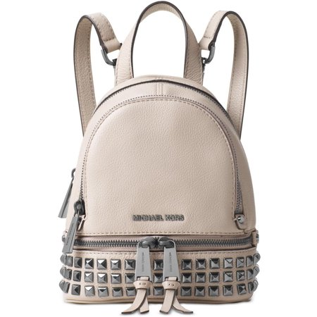 933dc270dacd Michael Kors - Rhea Extra-Small Studded Leather Backpack - Cement -  30T6TEZB5L-092 - Walmart.com