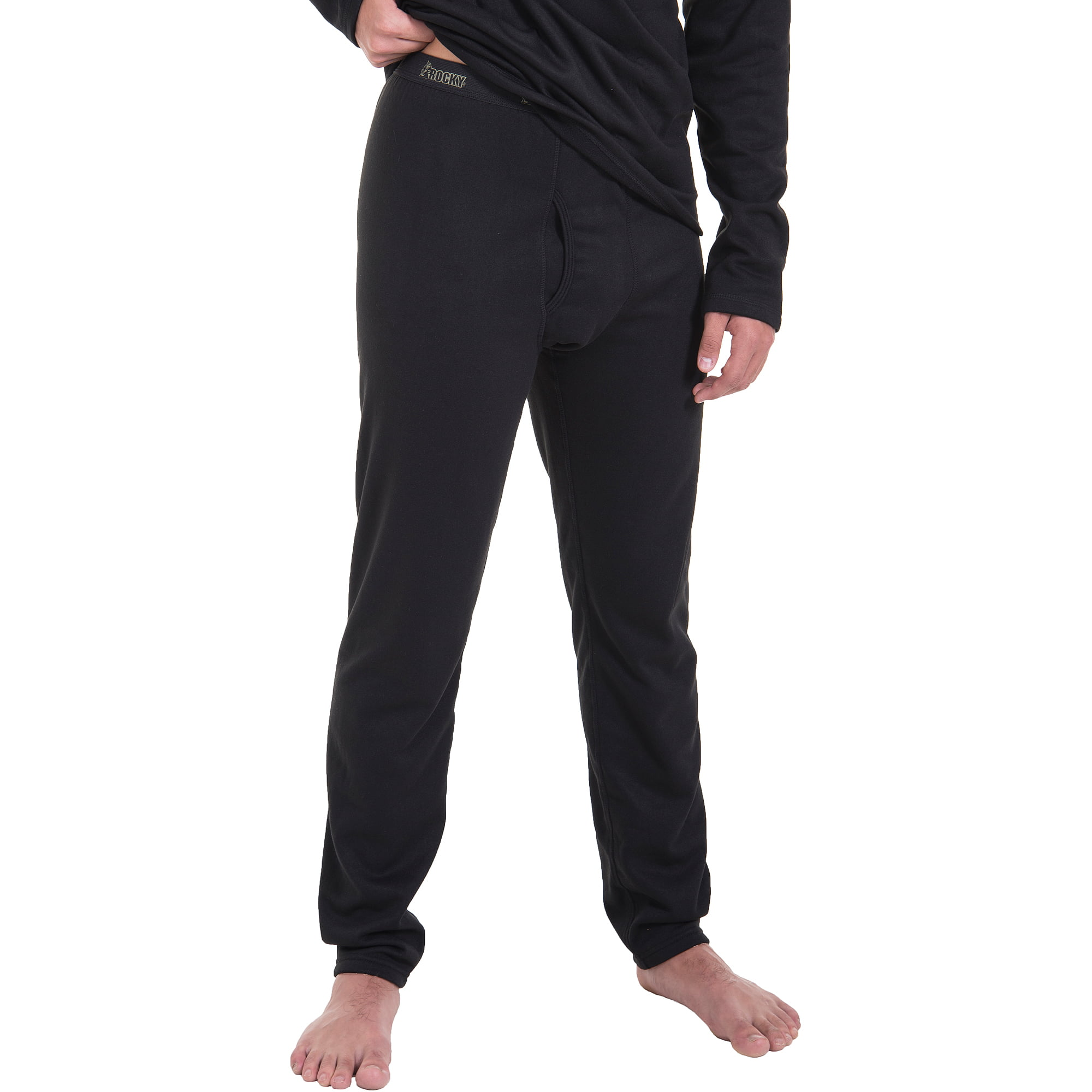Rocky Men's Heavyweight Fleece Thermal Underwear, Black - Walmart.com