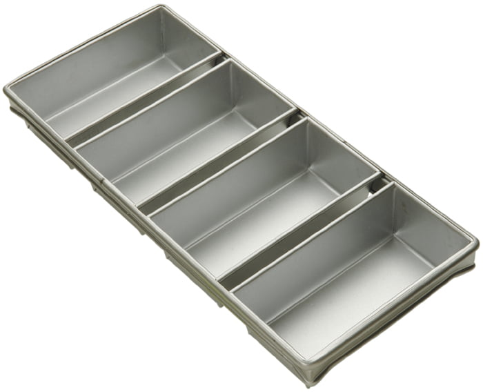 "Bread Pan 4 Strap Aluminized Steel 9"" x 4-1 2"" x 2-3 4"" Deep by"