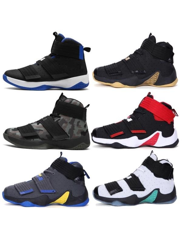 Men Athlelic Sport Shoes High Top Breathable Running Basketball Sneakers Outdoor