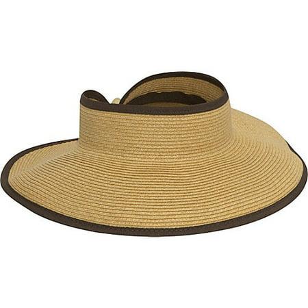 Women's San Diego Hat Company Ultrabraid Large Brim Visor UBV002
