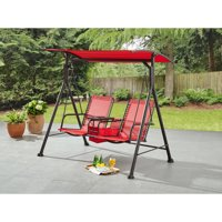 Ozark Trail Big and Tall 2-Seat Bungee Swing (Red)