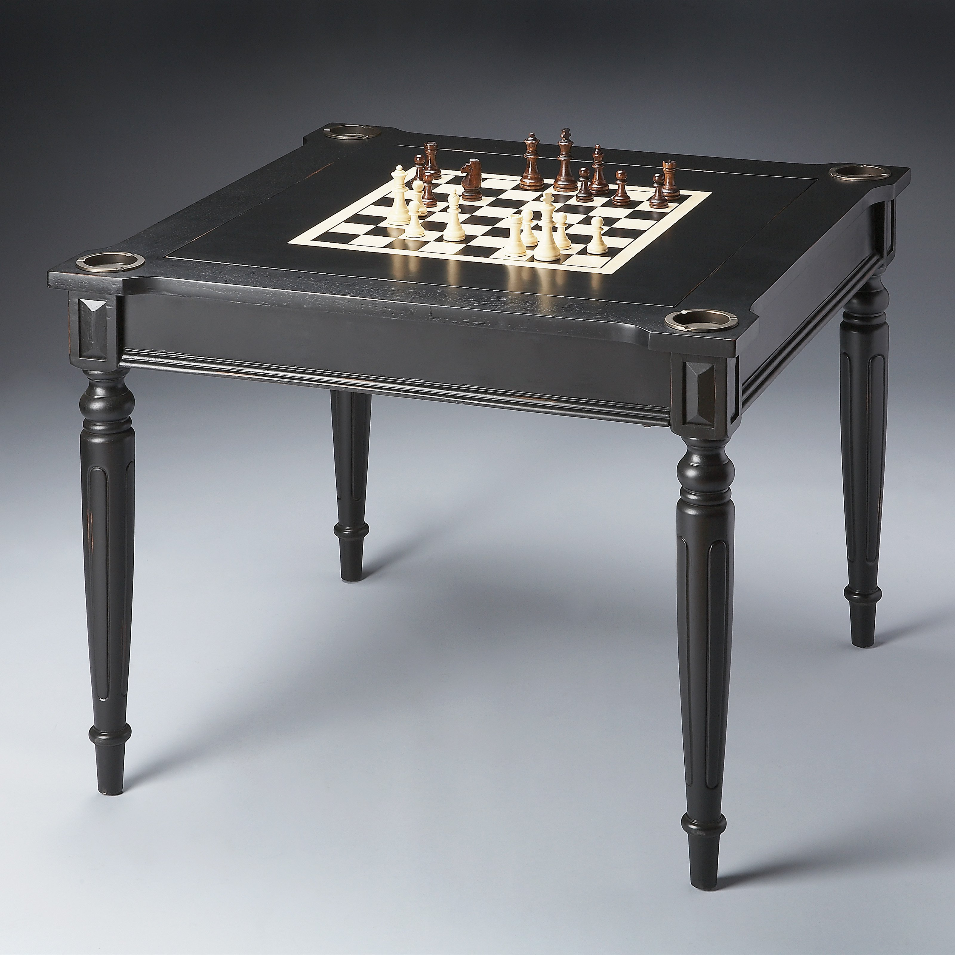 Butler Masterpiece Collection Wood Multi-Game Card Table ...