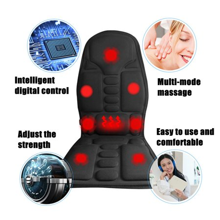 2 IN 1 8 Motor Massaging Back Massage Seat Pad Home Car Massager Chair Cushion  - image 3 of 10