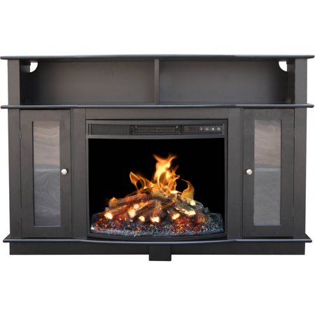 D;cor Flame Pinnacles 52″ Media Fireplace, for TVs up to 60″, Black