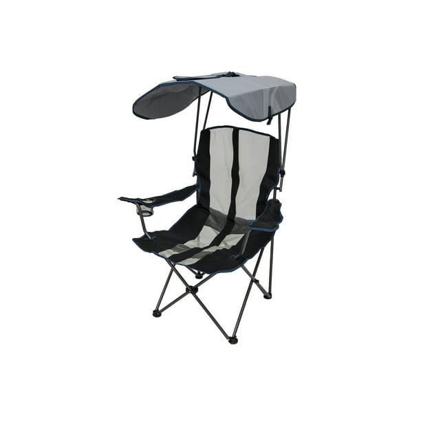 Kelsyus Premium Portable Camping Folding Lawn Chair W Canopy Navy 80188 Walmart Com Walmart Com