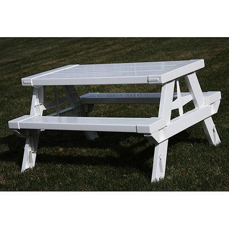 Kidnic childrens picnic table white walmart watchthetrailerfo