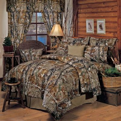 Realtree All Purpose Camo 8 Pc QUEEN SIZE Comforter Set &...