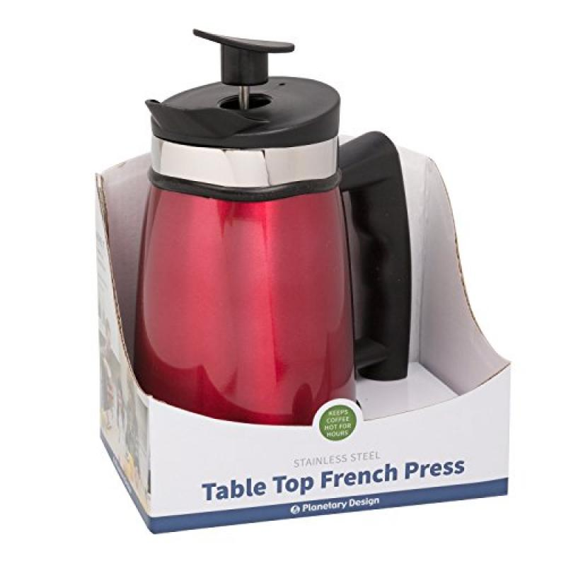 Planetary Design French Press Tabletop Coffee and Tea Mak...