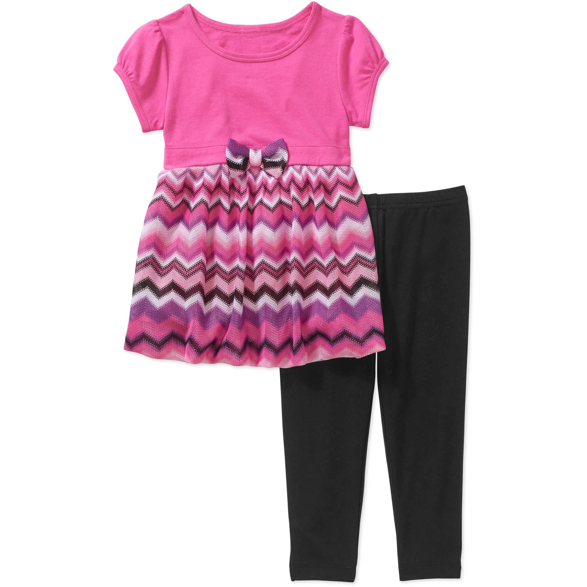 Healthtex Toddler Girls' Bubble Sweater Knit Tunic and Leggings Outfit Set