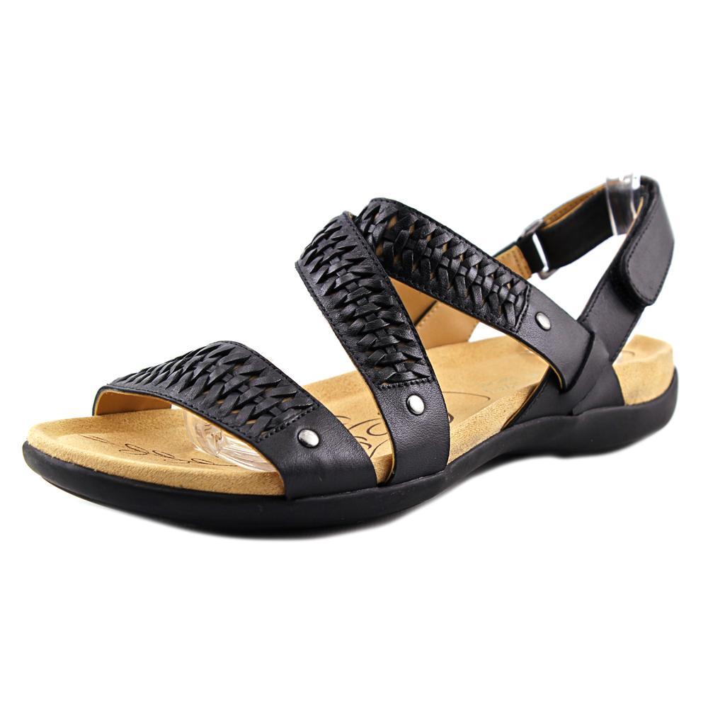 Naturalizer Eliora Women W Open-Toe Leather Black Slingback Sandal by Naturalizer