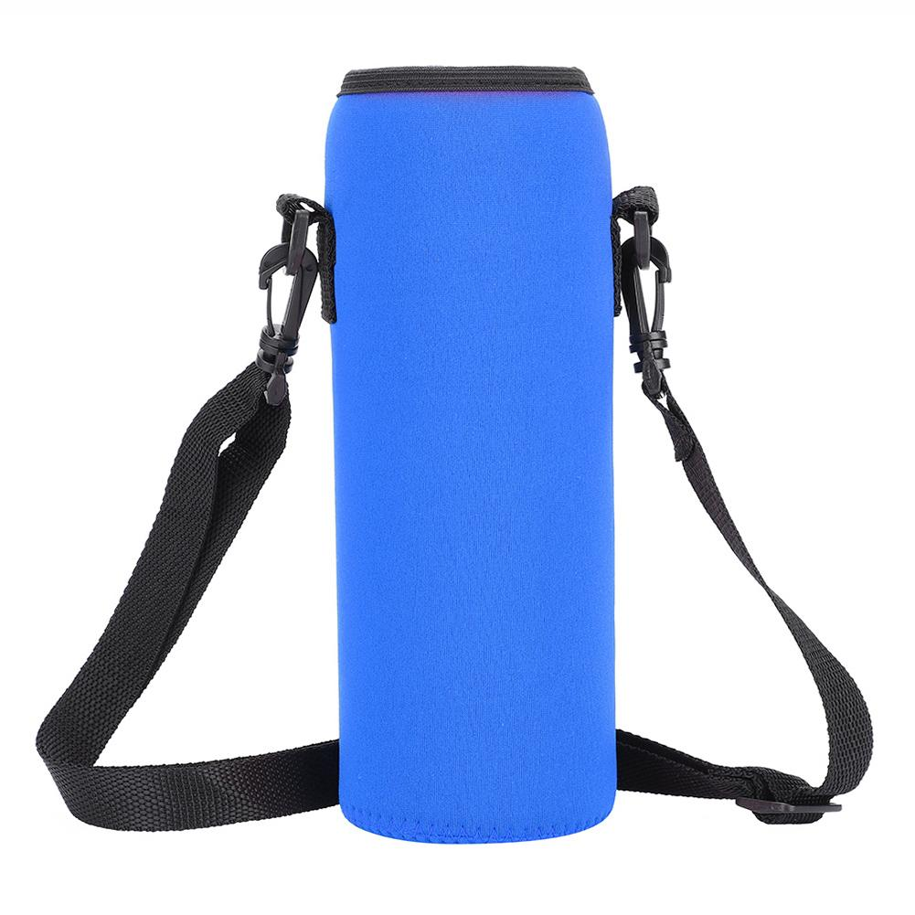1000ml Water Bottle Insulated Cover Neoprene Holder Bag Case Pouch Cover Straps