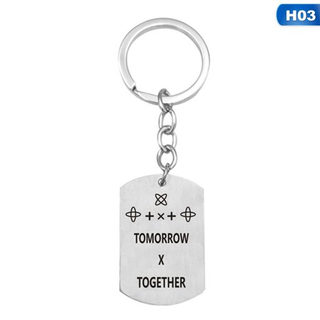 AkoaDa Zinc alloy Engraved Keychain For Car Personalized Gift Customized Letter Metal Keyring Key Chain (Personalized Car Tags For Front Of Car)