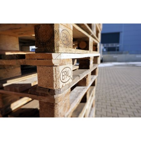- LAMINATED POSTER Wood Industry Epal Pallets Pattern Euro Pallets Poster Print 24 x 36