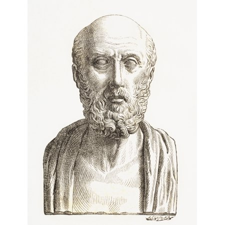 Hippocrates Of Cos Or Hippokrates Of Kos C 460 Bc To C 370 Bc Ancient Greek Physician Of The Age Of Pericles From El Mundo Ilustrado Published Barcelona 1880 Posterprint