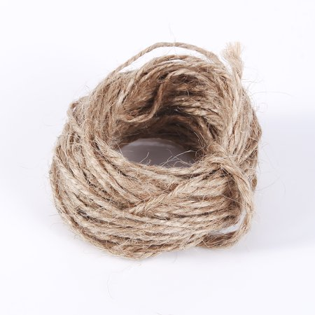 WALFRONT 8M Jute Twine String Hemp Rope Natural Brown For Hang Tag Jewelry Necklace Making DIY Craft, natural burlap rope, burlap rope - image 4 of 7