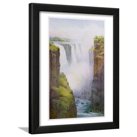 Victoria Falls on the River Zambesi in South Africa Framed Print Wall Art By A.m.