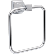 Better Homes and Gardens Chandler Towel Ring, Wall Mounted Bathroom Towel Holder, Chrome