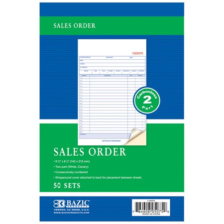 2 Part Sales Order - New 402134   50 Sets 5 9 / 16 Inch X 8 7 / 16 Inch 2- Part Carbonless Sales Order (24-Pack) Writing Materials Cheap Wholesale Discount Bulk Stationery Writing Materials River Stones