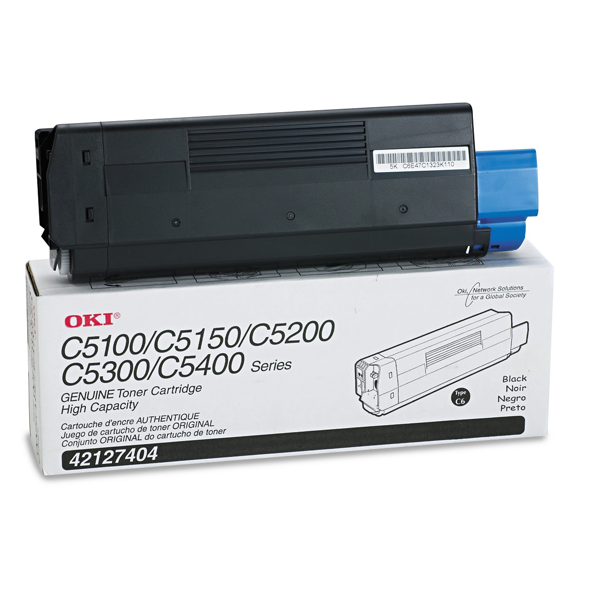 Oki 4212740 High-Yield Toner (Type C6), 5000 Page-Yield