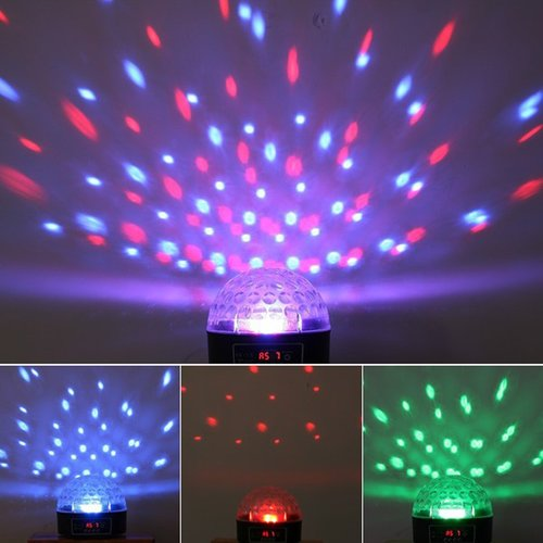 Crystal Ball DMX Disco DJ Stage Multi-Colored Lighting, Can be Voice Controlled by Generic