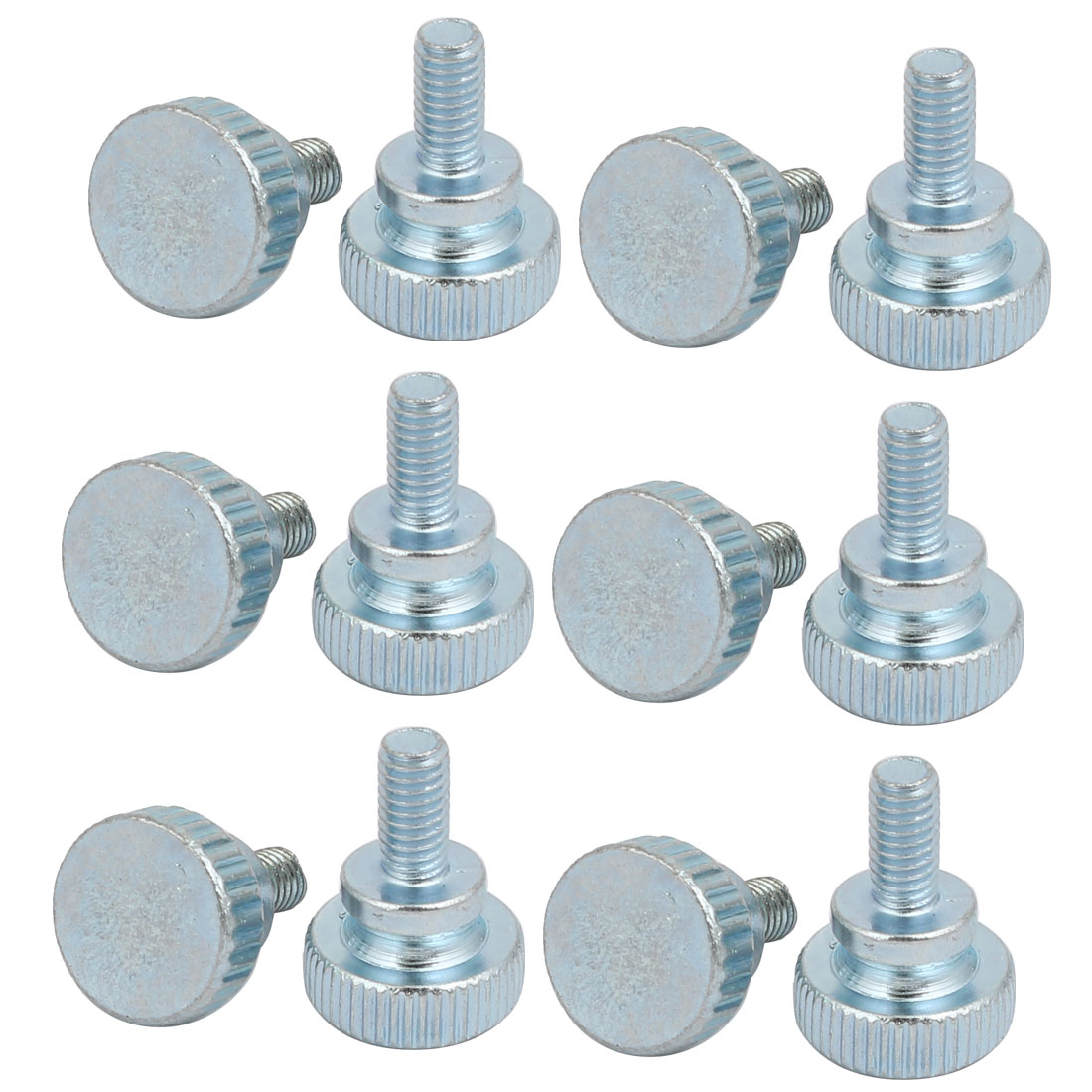 Unique Bargains M4x8mm Carbon Steel Flat Knurled Head Fully Threaded Thumb Screw Bolt 12pcs - image 3 of 3