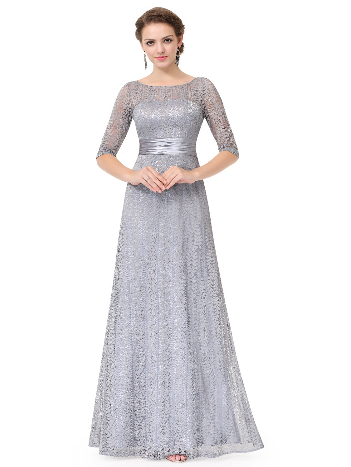 Ever-Pretty Women's Elegant Long A-Line Floral Lace Formal Evening Wedding Guest Mother of the Bride Dresses 08878 for... by Ever Pretty Garment Inc.
