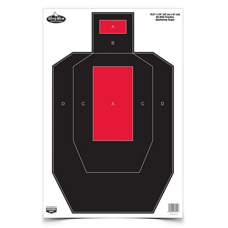 "Birchwood Casey Dirty Bird BC-IPSC Practice, 16.5"" x 24"" Target, Per 3"