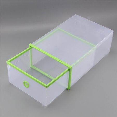 Shoe Storage Organizer Boxes, Portable Storage Bin Case, Durable Shoe Cubes Container, Household Translucent Plastic Lightweight Shoe Organiser Drawer, Ideal for Shoes, Small Kit, Magazines, Books