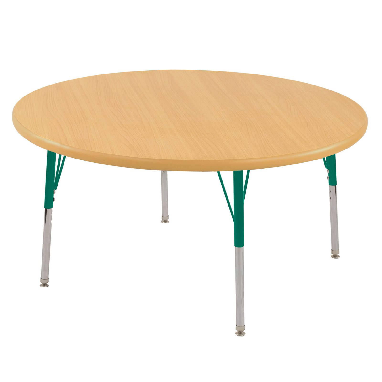 ECR4KIDS Maple Round Adjustable Activity Table with Maple Edge - Standard Legs - 36 in.
