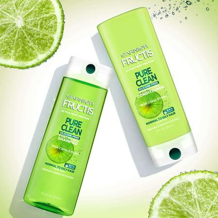 - (2 Pack) Garnier Fructis Pure Clean Shampoo, 12.5 Fl oz