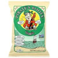 Pirate Brands Booty Snacks, Veggie, 4 Oz, Pack Of 12