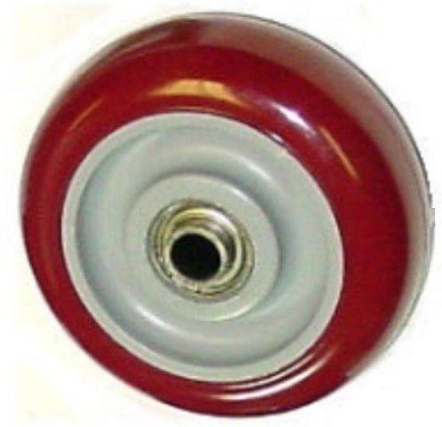"Durable 3-1/2"" x 1-1/4"" Polyurethane Wheel with 3/8"" ID 225# Cap"